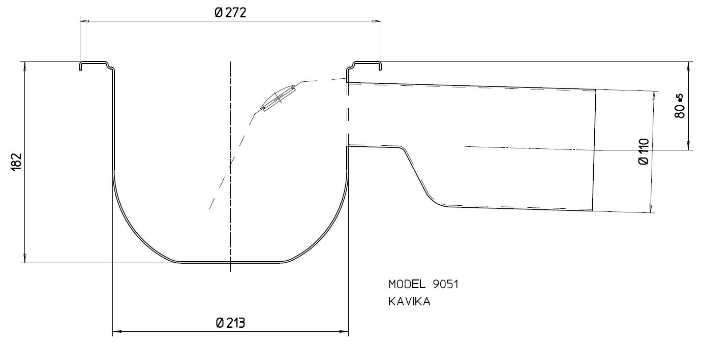 Трап с гидрозатвором 9051