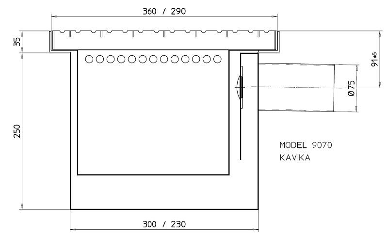 Sand separator trap 9070