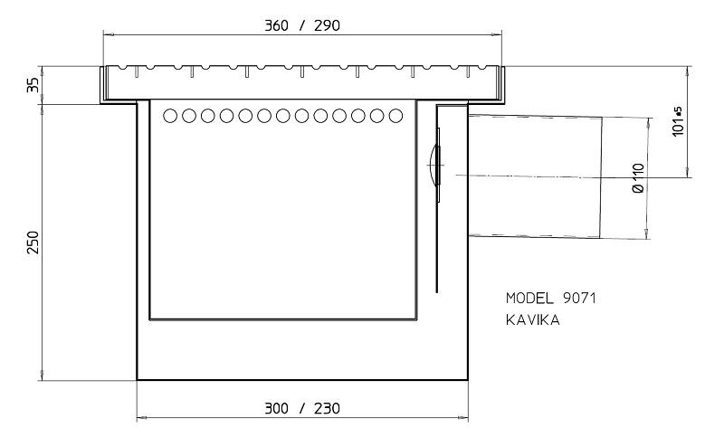 Sand separator trap 9071
