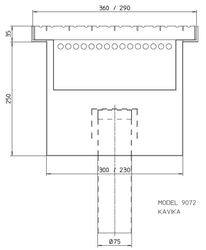 Sand separator trap 9072