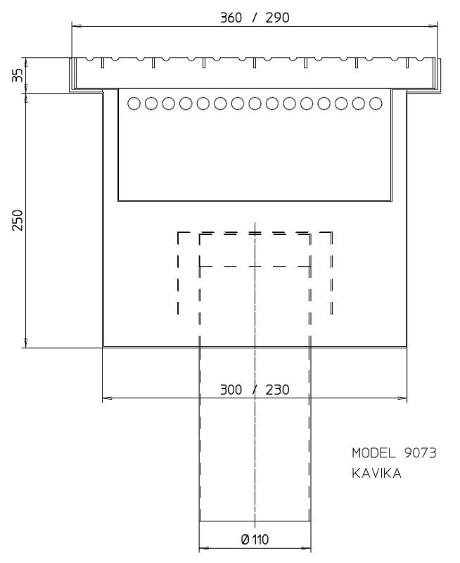 Sand separator trap 9073