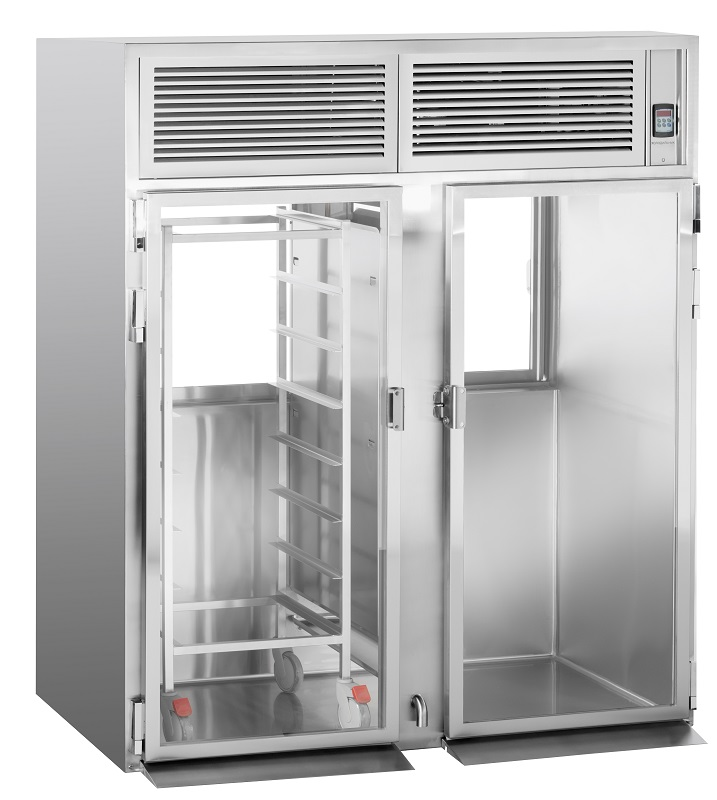 Roll-in pass-through refrigerator