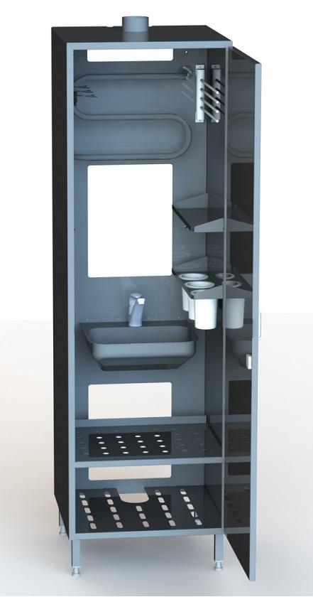 Cleaning cupboard 5100, 1-door